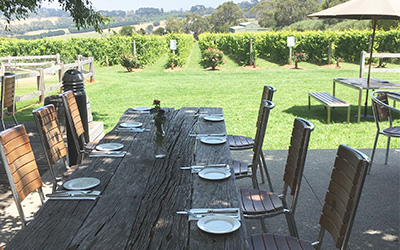 Terrace dining Mornington winery - Pier 10